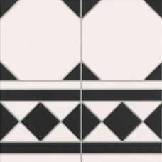 Oxford Negro Cenefa 33х33
