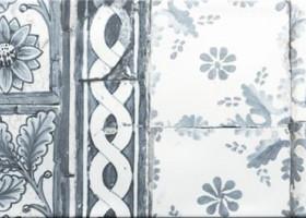 Zirconio Декор керамический Antique Med Grey mix 25х66.6