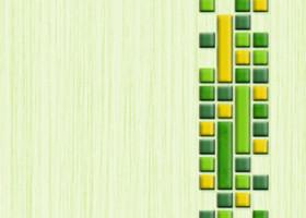 Нефрит-Керамика Декор Кураж зеленый 25х33