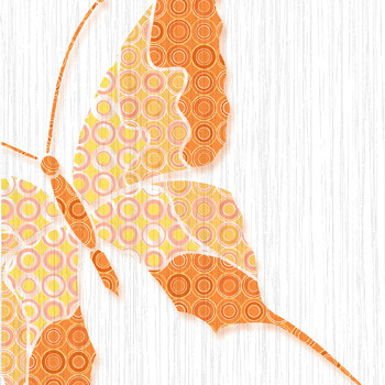 Нефрит-Керамика Декор Бабочки оранжевый 25х132