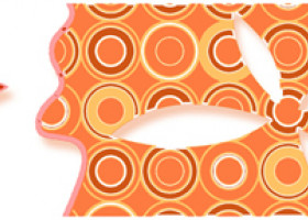 Нефрит-Керамика Бордюр Бабочки Оранжевый 6х25
