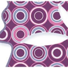 Нефрит-Керамика Бордюр Бабочки Фиолетовый 6х25