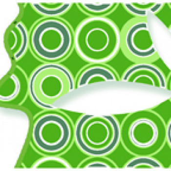 Нефрит-Керамика Бордюр Бабочки зеленый 6х25