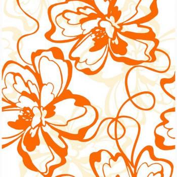 Нефрит-Керамика Вставка Монро Оранжевый 25х40