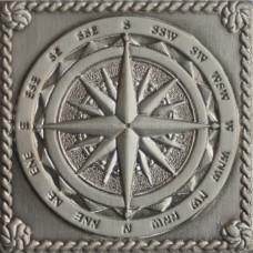 Вставка декоративная Windrose Satined silver (серебро сатинированное) 50х50