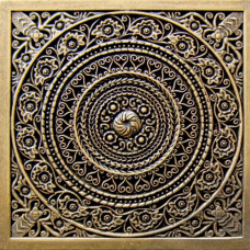 Вставка декоративная Rosal Shined brass (бронза полированная) 60х60