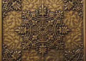 Вставка декоративная Luxor Shined brass (бронза полированная) 75х75