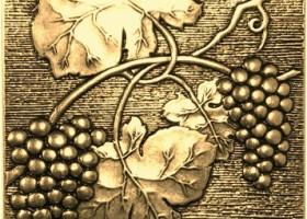 Вставка декоративная Uvas Shined brass (бронза полированная) 100х100