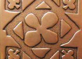 Вставка декоративная Gothic Shined brass (бронза полированная) 100х100