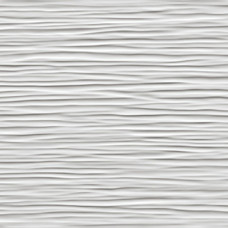 Плитка 3D Wave White Glossy