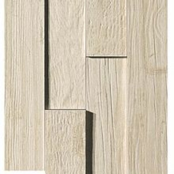 Плитка Axi White Pine Brick 3D