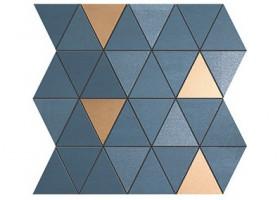Плитка MEK Blue Mosaico Diamond Gold Wall (9MDU)